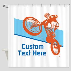 Custom Motocross Bike Design Shower Curtain