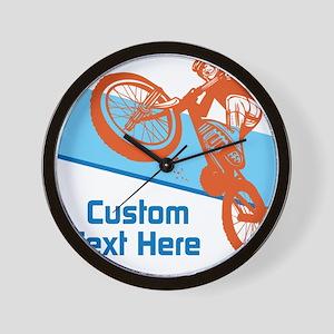 Custom Motocross Bike Design Wall Clock