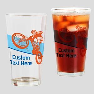 Custom Motocross Bike Design Drinking Glass