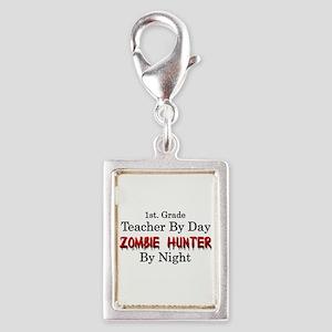 1st. Grade Teacher/Zombie Hu Silver Portrait Charm