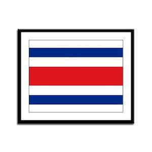 Costarican flag Framed Panel Print
