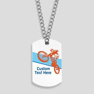 Custom Motocross Bike Design Dog Tags