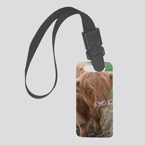 Young Highland Cow Small Luggage Tag