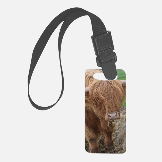 Young Highland Cow Luggage Tag