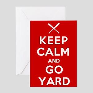 Keep Calm, Go Yard Greeting Cards