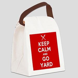 Keep Calm, Go Yard Canvas Lunch Bag