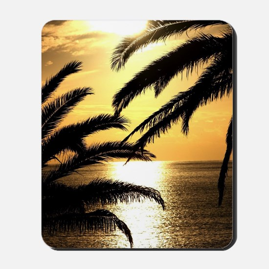 Sunset with Palms Mousepad