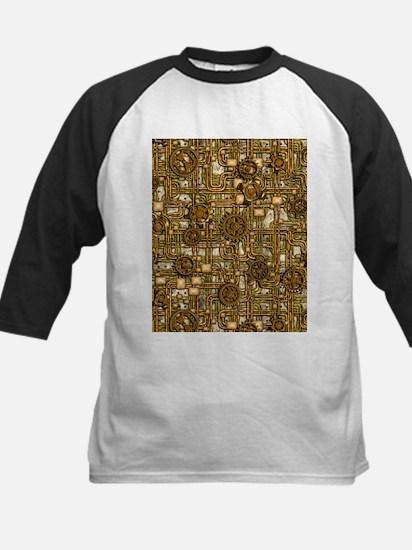 Steampunk Cogs&Pipes-Brass Kids Baseball Jersey