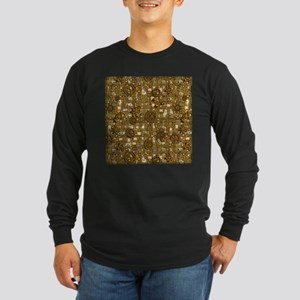 Steampunk Cogs&Pipes-Bras Long Sleeve Dark T-Shirt