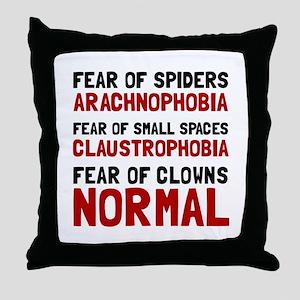 Fear Clowns Throw Pillow