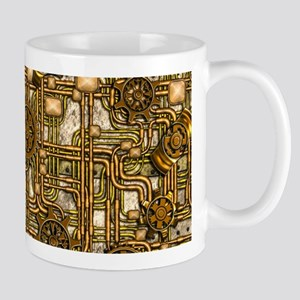 Steampunk Cogs&Pipes-Brass Mug