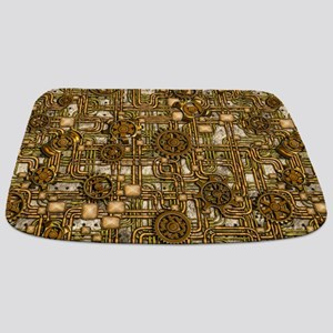 Steampunk Cogs&Pipes-Brass Bathmat