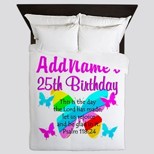 BLESSED 25TH Queen Duvet