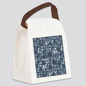 Steampunk Panel - Steel Canvas Lunch Bag