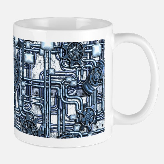 Steampunk Panel - Steel Mug