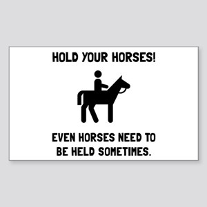 Hold Horses Sticker