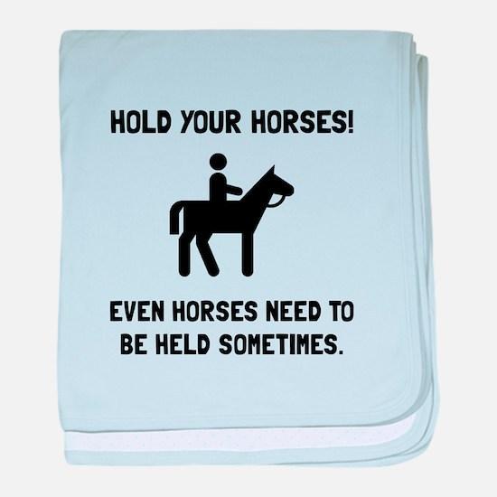 Hold Horses baby blanket