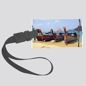 Boats in Thailand Large Luggage Tag