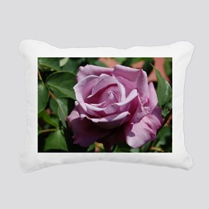 Purple Rose Rectangular Canvas Pillow