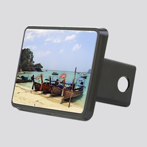 Boats On The Beach In Thai Rectangular Hitch Cover
