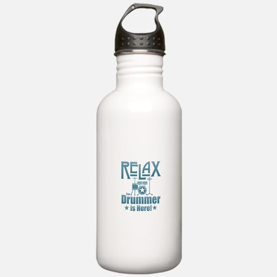 Relax The Drummer is H Water Bottle