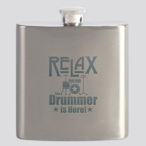 Relax The Drummer is Here Flask