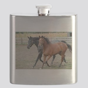 Horses in Love Flask