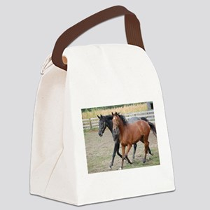 Horses in Love Canvas Lunch Bag