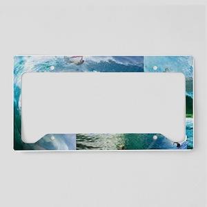 Surf License Plate Holder