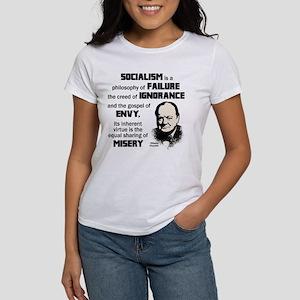 Churchill Socialism Quote T-Shirt