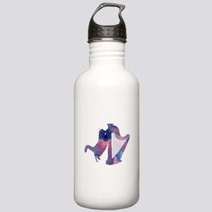 Cat with harp Stainless Water Bottle 1.0L