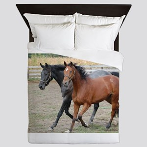 Horses in Love Queen Duvet