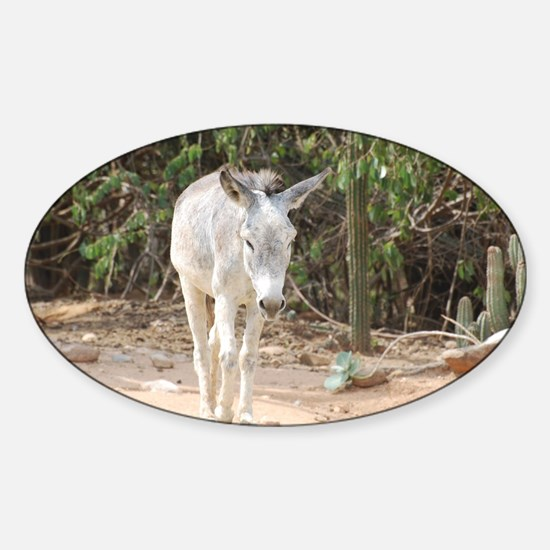 Grey Donkey Sticker (Oval)