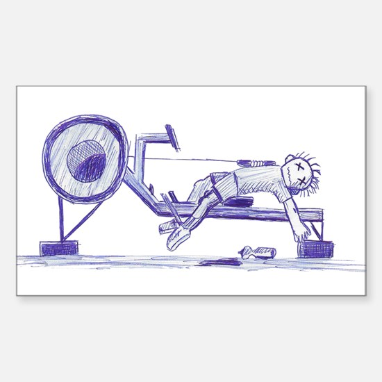 Ergometer rowing sketch Decal