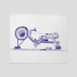 Ergometer rowing sketch Throw Blanket