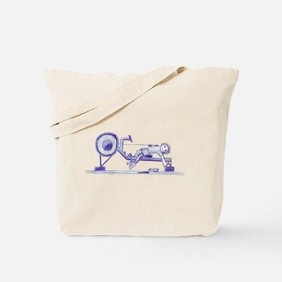 Ergometer rowing sketch Tote Bag