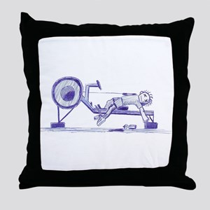 Ergometer rowing sketch Throw Pillow