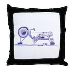 Ergometer rowing sketch Throw Pillow