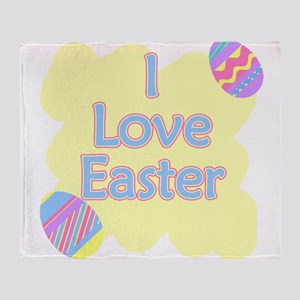 i love easter Throw Blanket