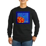 Midnight Rose Long Sleeve Dark T-Shirt