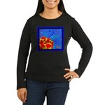 Midnight Rose Women's Long Sleeve Dark T-Shirt