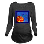 Midnight Rose Long Sleeve Maternity T-Shirt