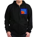 Midnight Rose Zip Hoodie (dark)