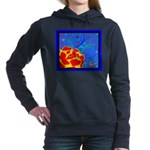 Midnight Rose Hooded Sweatshirt