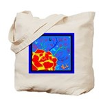 Midnight Rose Tote Bag