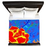 Midnight Rose King Duvet