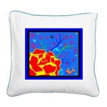 Midnight Rose Square Canvas Pillow