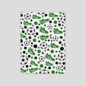 Soccer - Green, Black, White 5'x7'Area Rug
