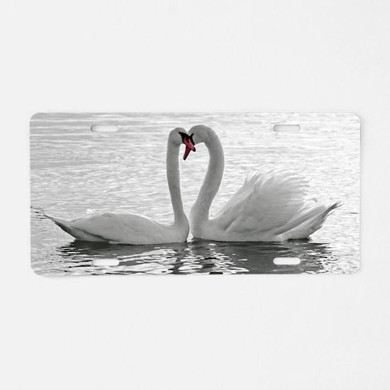 love swans Aluminum License Plate