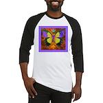 Psychedelic Butterfly Baseball Jersey
